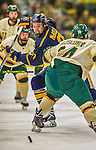 29 December 2013:  Canisius College Golden Griffins defenseman Duncan McKellar, a Senior from Phoenix, AZ, in first period action against the University of Vermont Catamounts at Gutterson Fieldhouse in Burlington, Vermont. The Catamounts defeated the Golden Griffins 6-2 in the 2013 Sheraton/TD Bank Catamount Cup NCAA Hockey Tournament. Mandatory Credit: Ed Wolfstein Photo *** RAW (NEF) Image File Available ***