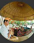 Balinese priests chant for peace in Fivelements' Hotri Agni pavillion