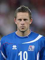 Fussball International  WM Qualifikation 2014   in Bern Schweiz - Island          06.09.2013 Gylfi Sigurdsson (Island)