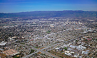 aerial photograph interstate 280 and interstate 880 interchange, San Jose, Santa Clara county, California