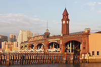 The Erie Lackawanna Terminal and Clock Tower, Hoboken, New Jersey.