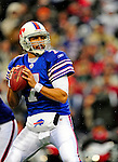 30 November 2008: Buffalo Bills' quarterback J.P. Losman looks for an open receiver in the third quarter against the San Francisco 49ers at Ralph Wilson Stadium in Orchard Park, NY. The 49ers defeated the Bills 10-3. ***** Editorial Use Only ******..Mandatory Photo Credit: Ed Wolfstein Photo