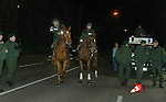 German Riot Police in Stuttgart in 2003 for the visit of Rangers