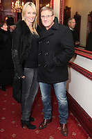 """NO REPRO FEE. 17/1/2010. The Field opening night. Siobhan and Paul Byrne are pictured at the Olympia Theatre for the opening night of John B Keanes 'The Field"""" Picture James Horan/Collins"""