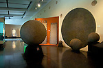 Costa Rica, San Jose, National Museum, Original Spherical Pre-Colombian Stone Display, Costa Rican Cultural Identity