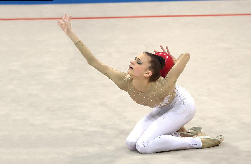 Oct 01, 2000; SYDNEY, AUSTRALIA:<br /> TAMARA YEROFEEVA of Ukraine performs with ball during rhythmic gymnastics final at 2000 Summer Olympics.