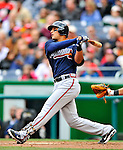 2 April 2011: Atlanta Braves outfielder Martin Prado in action against the Washington Nationals at Nationals Park in Washington, District of Columbia. The Nationals defeated the Braves 6-3 in the second game of their season opening series. Mandatory Credit: Ed Wolfstein Photo