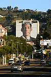 Large building sized advertisement for Will Smith movie  in Hollywood, CA