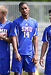 04 September 2011: SMU's Aaron Simmons. The Southern Methodist University Mustangs defeated the Duke University Blue Devils 1-0 in overtime at Koskinen Stadium in Durham, North Carolina in an NCAA Division I Men's Soccer game.