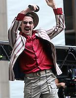 NEW YORK, NY-July 16:  Jake Gyllenhaal shooting on location for Netflix & Plan B Enterainment  film Okja in New York. NY July 16, 2016. Credit:RW/MediaPunch