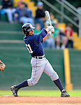 19 June 2008: Oneonta Tigers outfielder Ben Guez in action against the Vermont Lake Monsters at historic Centennial Field in Burlington, Vermont. The Tigers defeated the Lake Monsters 13-8 in the rubber match of their three-game season opening series in Vermont...Mandatory Credit: Ed Wolfstein Photo