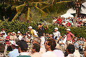 January 14, 2005; Honolulu, HI, USA;  15 year old amateur Michelle Wie tees off from the 1st hole during the 2nd round of the PGA Sony Open golf tournament held at Waialae Country Club.    Wie shot a 4 over par 74 for the day and missed the cut by 7 strokes with a 9 over par 149.<br />