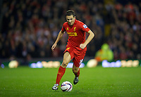 WEST BROMWICH, ENGLAND - Wednesday, September 26, 2012: Liverpool's Stewart Downing in action against West Bromwich Albion during the Football League Cup 3rd Round match at the Hawthorns. (Pic by David Rawcliffe/Propaganda)