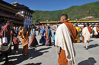 Bhutanese people entering Tashichoe Dzong for the annual festival of Thimpu Tsechu. Arindam Mukherjee..
