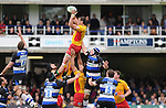 Luke Charteris wins the line out. Bath V Newport Gwent Dragons, Heineken Cup Pool 5 © Ian Cook IJC Photography iancook@ijcphotography.co.uk www.ijcphotography.co.uk