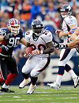 9 September 2007: Denver Broncos running back Travis Henry (20) in action against the Buffalo Bills at Ralph Wilson Stadium in Buffalo, NY. The Broncos defeated the Bills 15-14 in the opening day matchup...Mandatory Photo Credit: Ed Wolfstein Photo