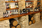 Stock photo of a Collection of bottles of wine in Cyprus Wine Museum Limassol region wine industry Horizontal