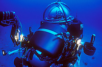 Dr. Sylvia Earle diving in a submersible.
