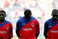 Haiti players. Honduras defeated Haiti 1-0 during the First Round of the 2009 CONCACAF Gold Cup at Qwest Field in Seattle, Washington on July 4, 2009.