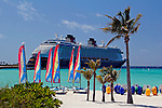 Caribbean, Bahamas, Castaway Cay. Disney Fantasy at Castaway Cay.