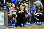 22 November 2015: Duke head coach Joanne P. McCallie. The Duke University Blue Devils hosted the United States Military Academy at West Point Army Black Knights at Cameron Indoor Stadium in Durham, North Carolina in a 2015-16 NCAA Women's Basketball Exhibition game. Duke won the game 72-61.