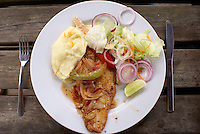 Grilled fish dinner, Tela, Honduras...