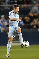 Matt Besler (5) defender Sporting KC in action..Sporting Kansas City defeated D.C Utd 1-0 at Sporting Park, Kansas City, Kansas.
