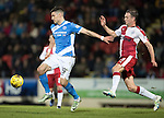 St Johnstone v Rangers&hellip;28.12.16     McDiarmid Park    SPFL<br />Graham Cummins holds off Clint Hill<br />Picture by Graeme Hart.<br />Copyright Perthshire Picture Agency<br />Tel: 01738 623350  Mobile: 07990 594431