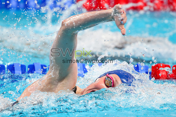 Picture by Alex Whitehead/SWpix.com - 06/08/2015 - Swimming - 16th FINA World Swimming Championships 2015 - Kazan Arena Stadium, Kazan, Russia - Great Britain's Hannah Miley competes in the Women's 4x200m Relay heats.