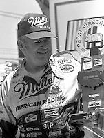 Bobby Allison victory lane trophy Pepsi Firecracker 400 Daytona International Speedway Daytona Beach FL July 1987 (Photo by Brian Cleary/www.bcpix.com)