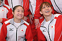 (L to R) Koko Tsurumi (JPN), Rie Tanaka (JPN), July 2, 2011 - Artistic Gymnastics : Japanese Artistic Gymnastics team member pose for media during the Send-off Ceremony for the London Olympic in Tokyo, Japan.   (Photo by Yusuke Nakanishi/AFLO SPORT)