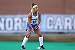 16 October 2015: Duke's Hannah Barreca. The University of North Carolina Tar Heels hosted the Duke University Blue Devils at Francis E. Henry Stadium in Chapel Hill, North Carolina in a 2015 NCAA Division I Field Hockey match. UNC won the game 2-1.