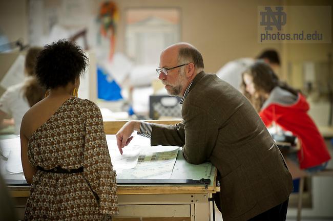 Apr. 16, 2012; School of Architecture..Photo by Matt Cashore/University of Notre Dame