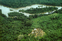 Aerials: rainforest, rainstorm, waterfall, Amazon floodplain, Angel Falls, biodiverstity