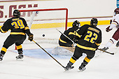 Colin White (BC - 18) scores his second of the game. - The Boston College Eagles defeated the visiting Colorado College Tigers 4-1 on Friday, October 21, 2016, at Kelley Rink in Conte Forum in Chestnut Hill, Massachusetts.The Boston College Eagles defeated the visiting Colorado College Tiger 4-1 on Friday, October 21, 2016, at Kelley Rink in Conte Forum in Chestnut Hill, Massachusett.