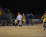 Oxford High's Allison Lyon (7) vs. Ridgeland in girls soccer North Half championship play-off action on Tuesday, February 2, 2010 in Oxford, Miss.