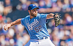 25 August 2013: Kansas City Royals pitcher Greg Holland closes out the game against the Washington Nationals at Kauffman Stadium in Kansas City, MO. The Royals defeated the Nationals 6-4, to take the final game of their 3-game inter-league series. Mandatory Credit: Ed Wolfstein Photo *** RAW (NEF) Image File Available ***
