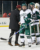 Ben Kravitz (Babson - 8) - The Norwich University Cadets defeated the Babson College Beavers 4-1 on Friday, January 13, 2011, at Fenway Park in Boston, Massachusetts.