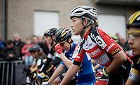 Sophie de Boer (NLD/Kalas-NNOF) at the start<br /> <br /> Jaarmarktcross Niel 2015  Elite Women's Race