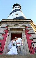 Lighthouse wedding, Hatteras, NC, destination wedding SC, GA