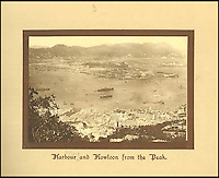 BNPS.co.uk (01202 558833)<br /> Pic: Tooveys/BNPS<br /> <br /> View from the Peak on Hong Kong island across the harbour tovery low rise Kowloon.<br /> <br /> A fascinating set of early images of Hong Kong long before it became the metropolis it is today have surfaced. <br /> <br /> The black and white photographs dating to the early 20th century depict a region unrecognisable to what stands today. <br /> <br /> There are several shots of natives walking down packed low-rise streets while a number of others picture primitive sailing boats. <br /> <br /> The collection was compiled by adventurous British photographer Denis H. Hazell, who took each of the 26 postcard-like photos.