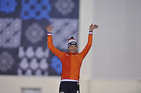 SPEED SKATING: SALT LAKE CITY: 20-11-2015, Utah Olympic Oval, ISU World Cup, 5000m Ladies B-division, Carien Kleibeuker (NED), Nederlands record: 6.45,04, ©foto Martin de Jong