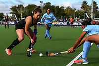 Ella Gunson during the international hockey match between the Blacksticks Women and India, Rosa Birch Park, Pukekohe, New Zealand. Sunday 14  May 2017. Photo:Simon Watts / www.bwmedia.co.nz