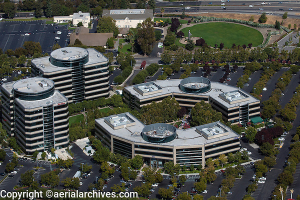 aerial photograph corporate headquarters McAfee, Inc. Santa Clara, California