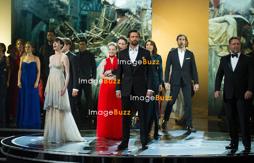 The Cast from Les Miserables perform live at the Oscars.OSCARS Telecast- 85th Annual Academy Awards, Dolby Theatre, Hollywood_24/02/2013.