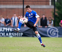 Brendan Hines-Ike (6) of Creighton controls the ball during the game at Shaw Field on the campus of the Georgetown University in Washington, DC.  Georgetown tied Creighton, 0-0, in double overtime.
