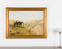 Thomas Eakins 1888 Cowboys in the Badlands, Large Version<br />