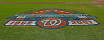 23 September 2007: The Washington Nationals commemorate the very last professional baseball game at RFK Stadium with painted graphics on the field.  The final game was against the Philadelphia Phillies at Robert F. Kennedy Memorial Stadium in Washington, DC. The Nationals defeated the visiting Phillies 5-3 to close out the 2007 home season. The Nationals will open up the 2008 season at Nationals Park, their new facility currently under construction.. .Mandatory Photo Credit: Ed Wolfstein Photo
