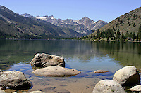 Twin Lakes is a set of connected lakes at the base of the southeastern slope of Mammoth Mountain, in the eastern Sierra Nevada, and within the Inyo National Forest. Twin Lakes are the lowest lakes in the Mammoth Lakes Basin. On one side of the lake are lava cliffs that were formed by eruptions of Mammoth Mountain. The other side of the lake has the Inyo National Forest's Twin Lakes Campground