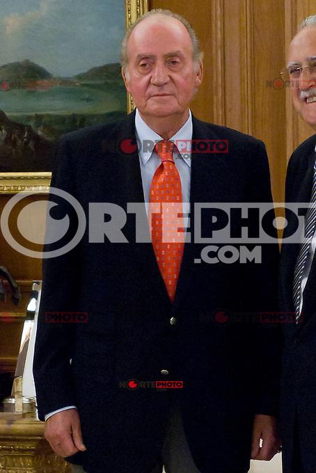 Juan Carlos I of Spain attend the audience with I&ntilde;aki Azkuna Urreta, Mayor of Bilbao, at the Royal Palace of La Zarzuela. In the image King Juan Carlos (Alterphotos/Marta Gonzalez) /NortePhoto.com<br /> <br />  **CREDITO*OBLIGATORIO** *No*Venta*A*Terceros*<br /> *No*Sale*So*third* ***No*Se*Permite*Hacer Archivo***No*Sale*So*third*